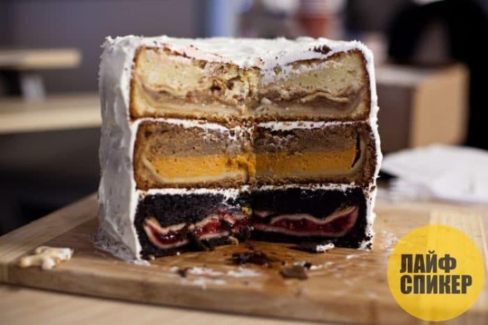 Торт с разной начинкой