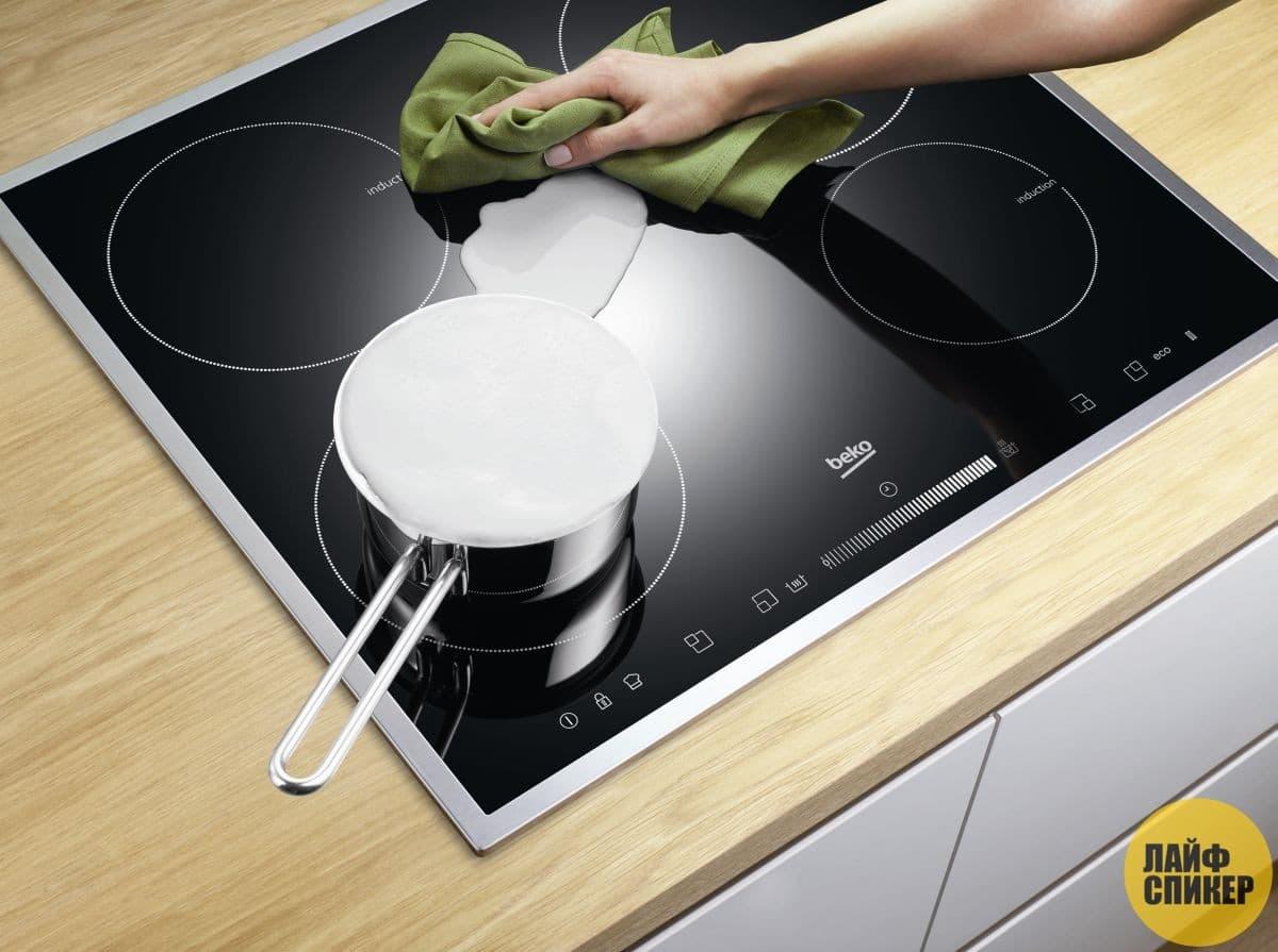 Как и чем чистить стеклокерамическую кухонную плиту