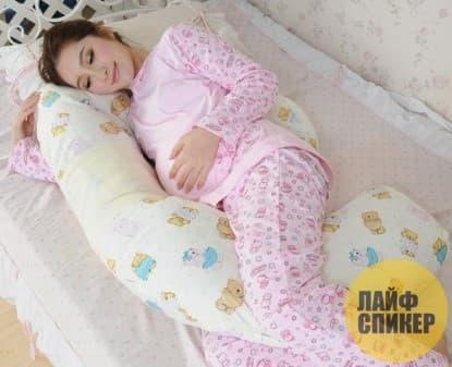 Обычную подушку в сторону
