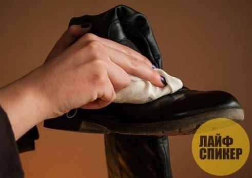 Следы от соли… на обуви