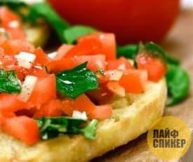 Бутерброд с зеленью
