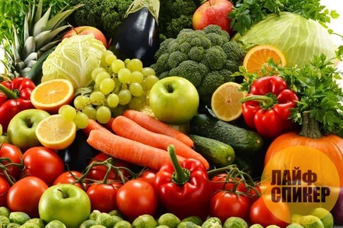 Фрукты, овощи, продукты ферментации