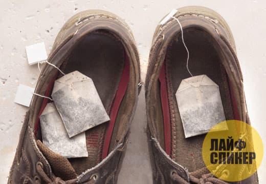 Дезодорирует обувь