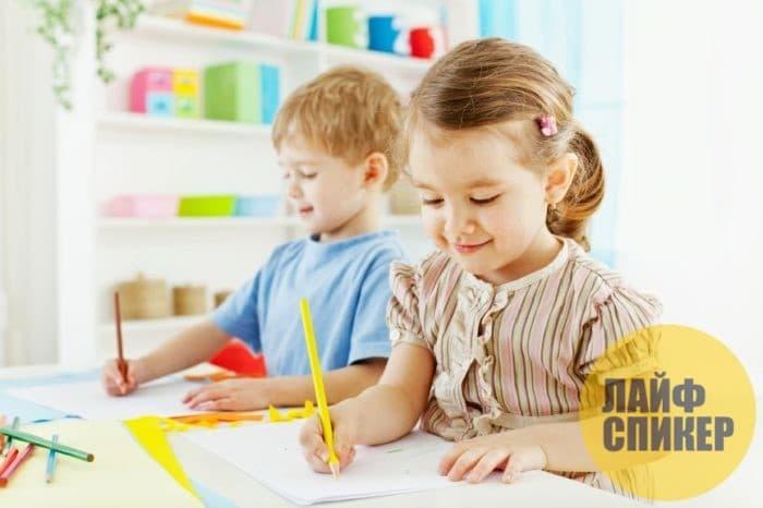 Ребёнок учиться писать