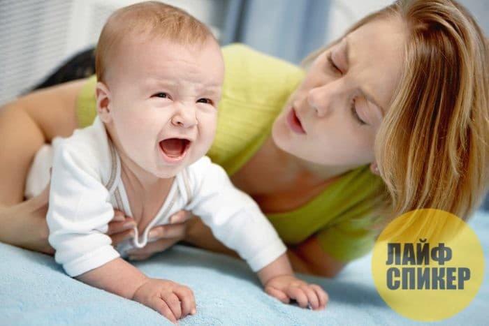 Причины плача новорожденного малыша