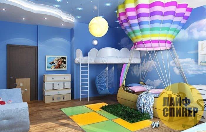 Идеи для подвесного потолка детской комнаты для мальчиков
