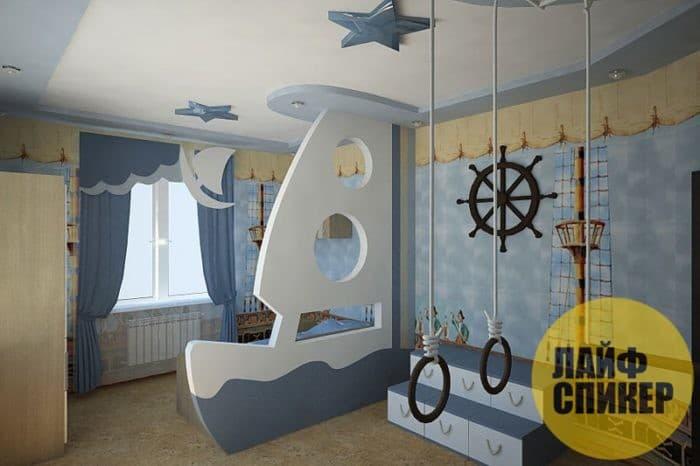Идеи для натяжных потолков в детской