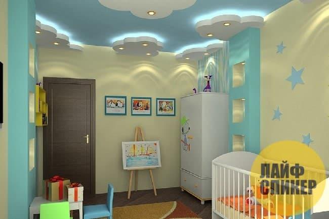 Подвесной потолок в детской комнате