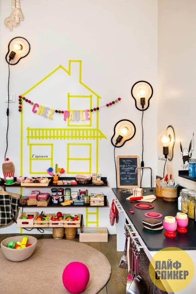 Комната для ребенка должна иметь несколько уровней освещения