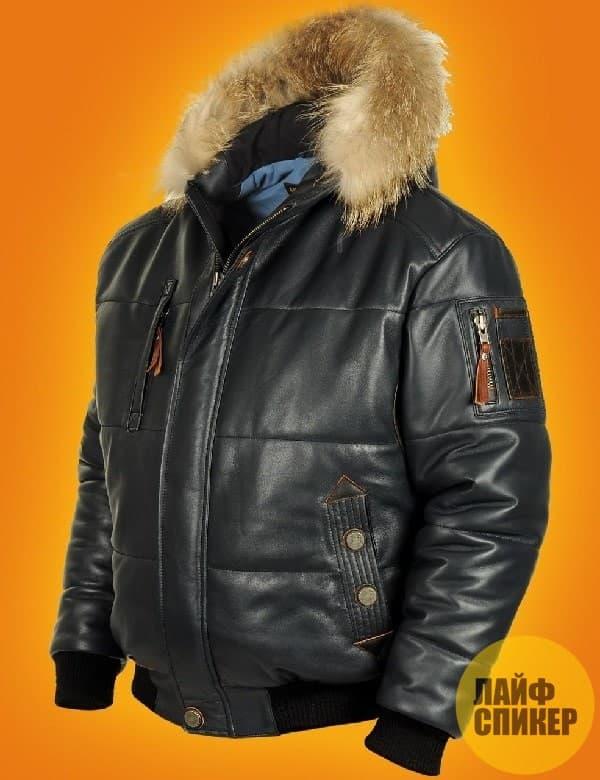 Мужские кожаные пуховики и куртки